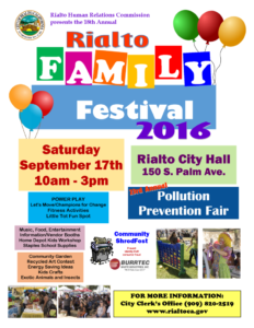Family Festival, Pollution Prevention Fair Flyer